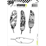 Carabelle Studio Cling Stamp A6 Feathers