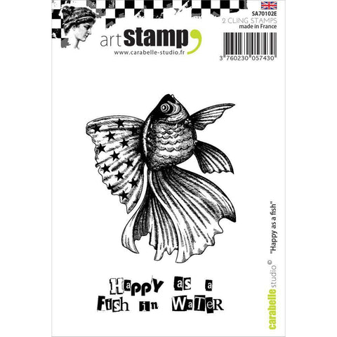 Carabelle Studio Cling Stamp A7 - happy As A Fish