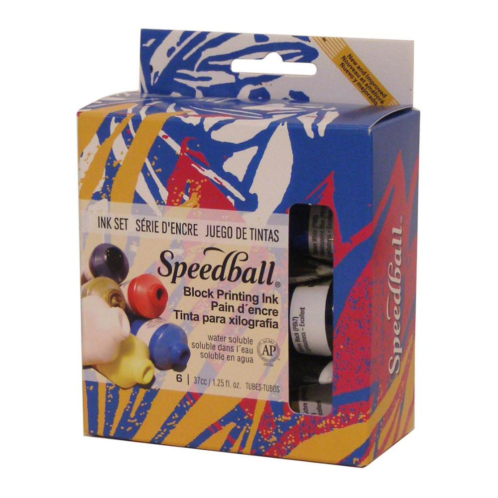Speedball Art - Block Ink Set 6 Pack - Starter Set