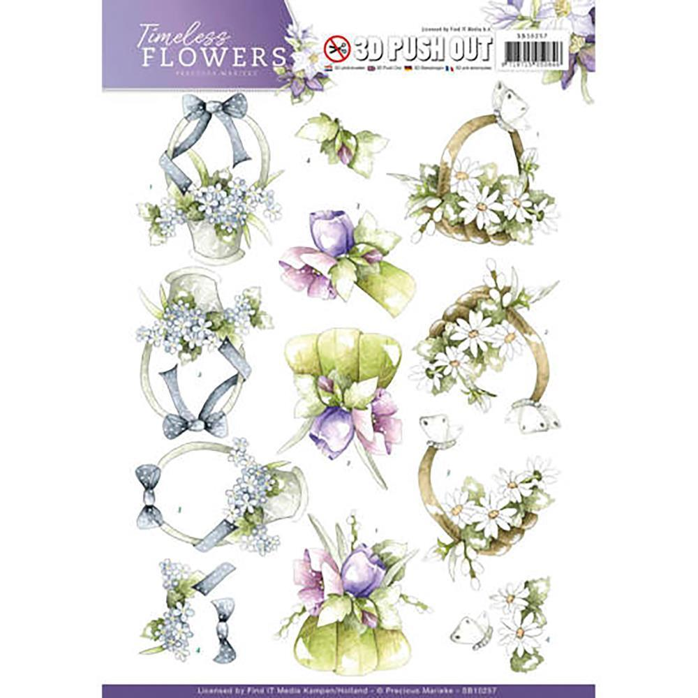 Find It Precious Marieke Timeless Flowers Punchout Sheet - Bouquets