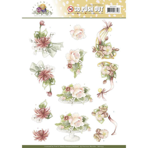 Find It Trading Precious Marieke Punchout Sheet - Sweet Summer Flowers, Blooming Summer