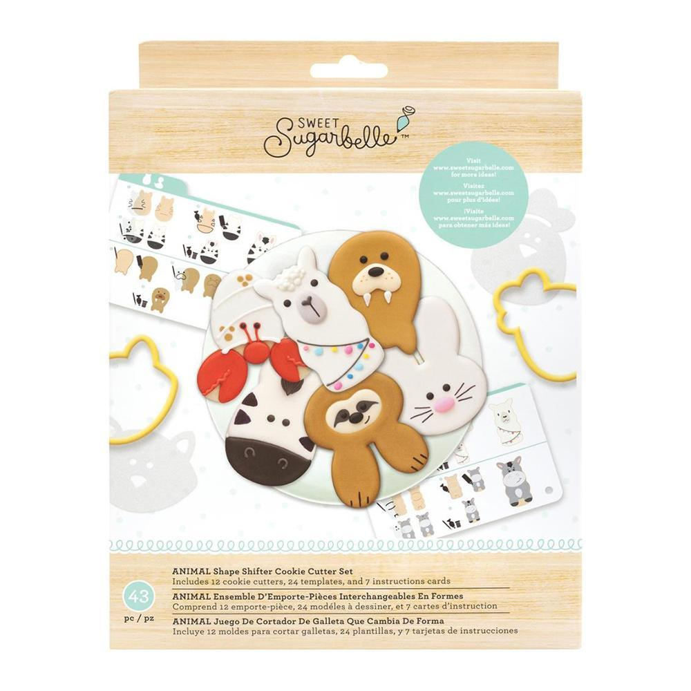 American Crafts - Sweet Sugarbelle Cookie Cutter Set 12 per pack Shape Shifter - Animal