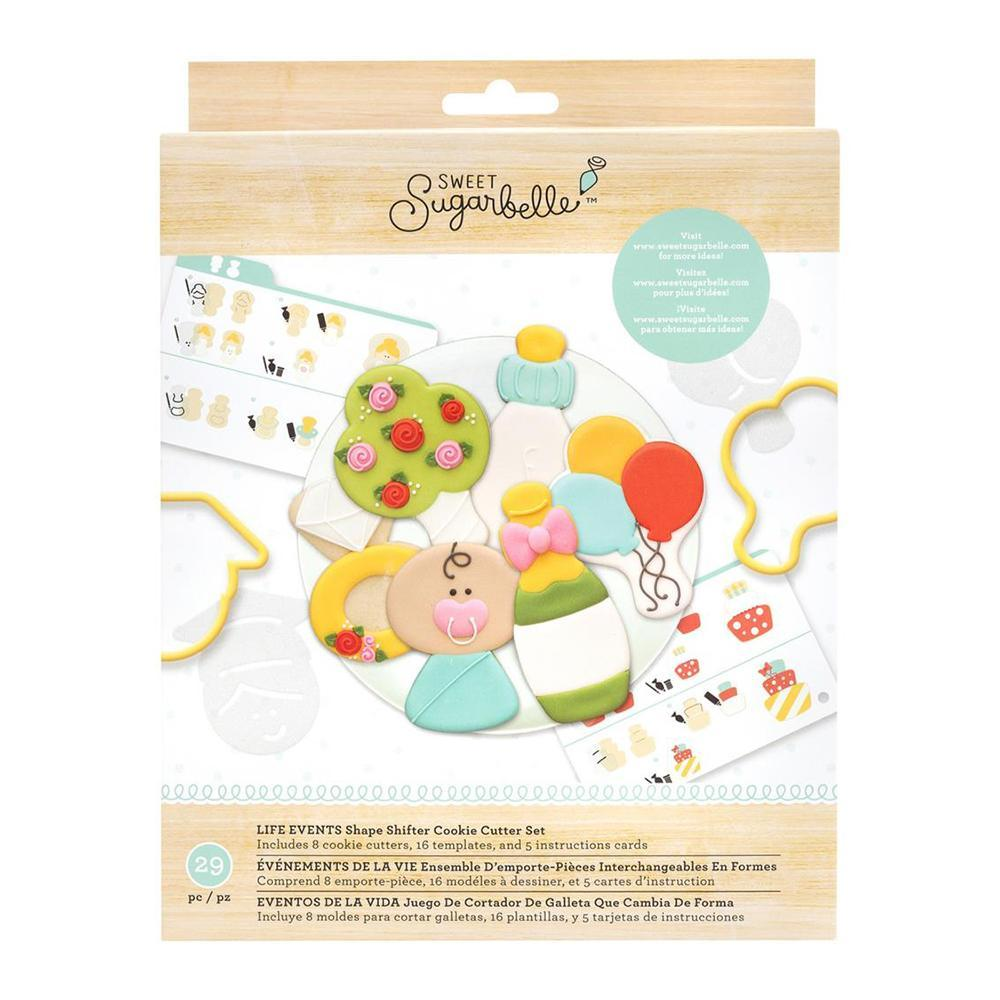American Crafts - Sweet Sugarbelle Cookie Cutter Set 8 per pack Shape Shifter - Life Events