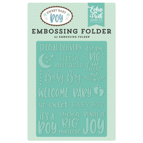 Echo Park Embossing Folder A2 - Special Delivery
