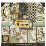 Stamperia Double-Sided Paper Pad 12 inch X12 inch 10 pack Alchemy, 10 Designs/1 Each