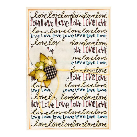 Spellbinder Tammy Tutterow - Happy Grams #4 Cling Stamps - Nothing But Love