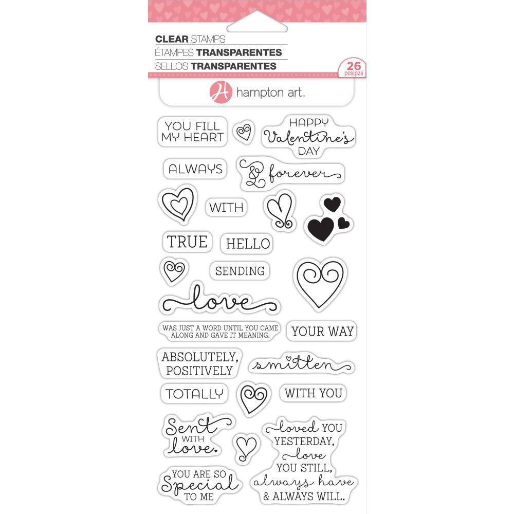 Hampton Art Clear Stamps 4x8 inch - Love Words