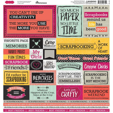 Reminisce Box Cardstock Stickers 12x12 inch - Scrappin Friends