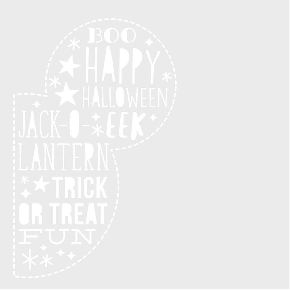 Simple Stories - Say Cheese Halloween - Stencil 6x6 inch