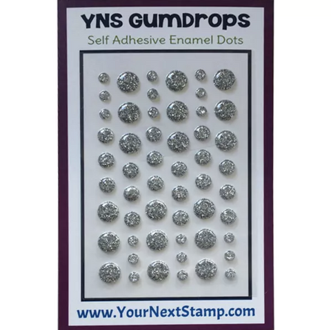 Your Next Stamp Gumdrops - 54 pack Silver Tinsel