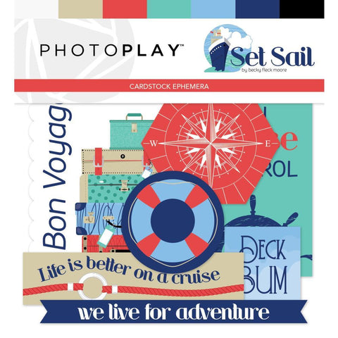 PhotoPlay - Set Sail Ephemera Cardstock Die-Cuts