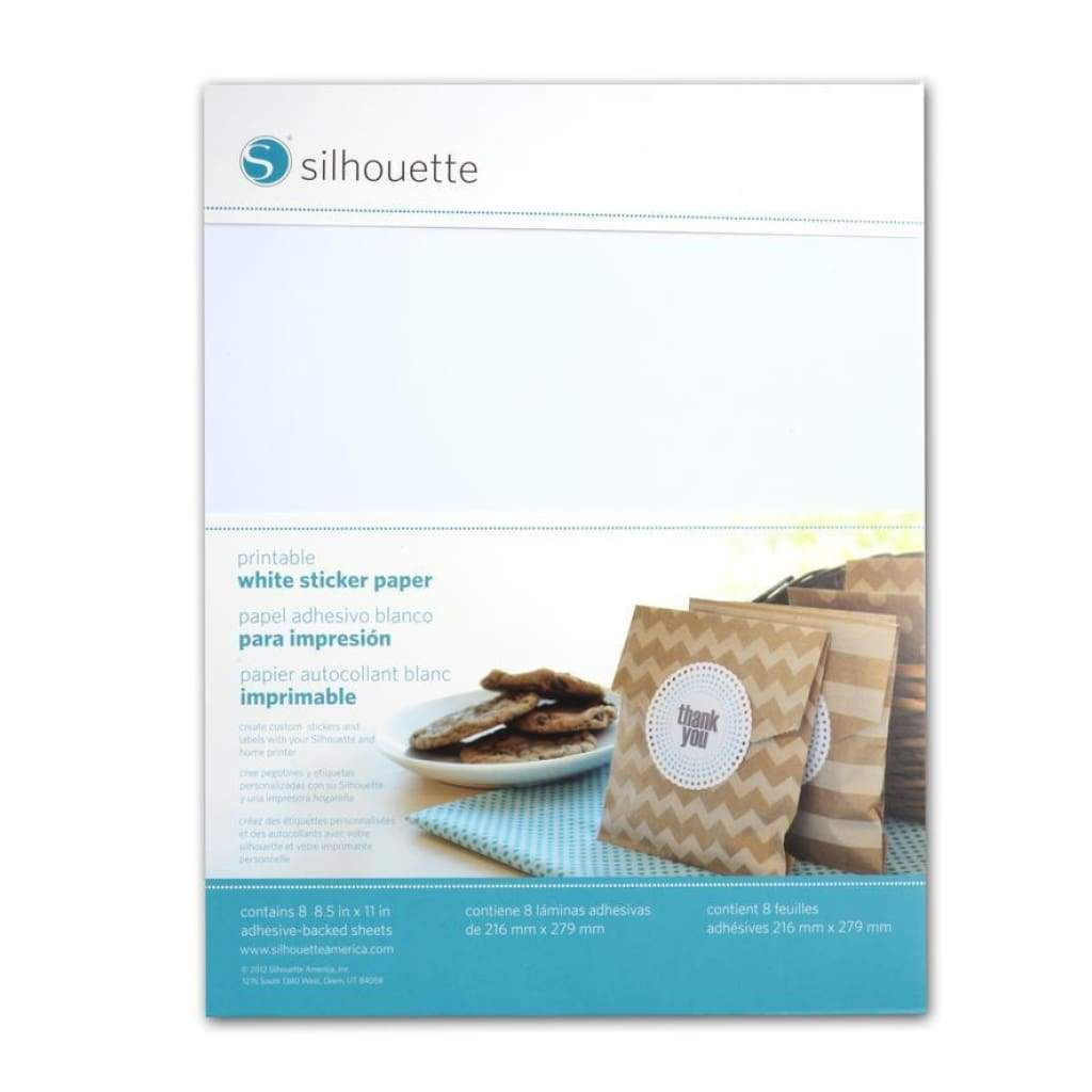 Silhouette Cameo - Printable White Sticker Paper