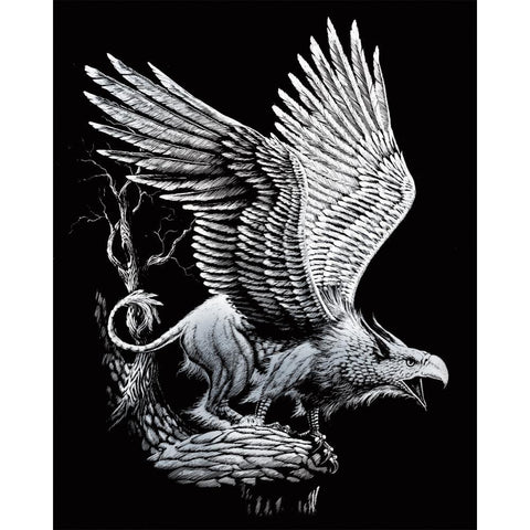 Royal Brush - Silver Foil Engraving Art Kit 8 inch X10 inch - Screaming Griffin