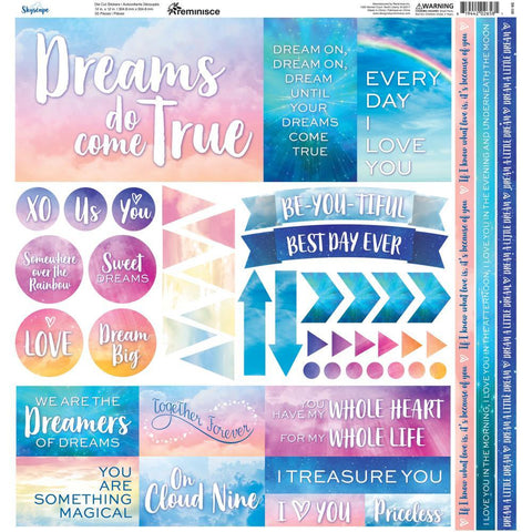 Reminisce Elements Cardstock Stickers 12x12 inch - Skyscape