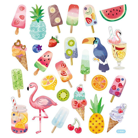 Multicoloured Stickers - Sweet Tropics