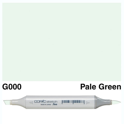 Copic Sketch Marker Pen G000 - Pale Green
