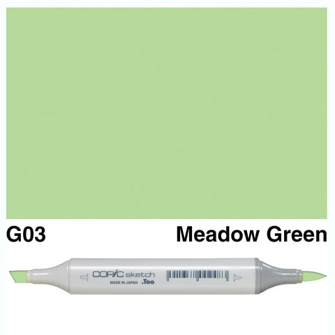 Copic Sketch Marker Pen G03 - Meadow Green