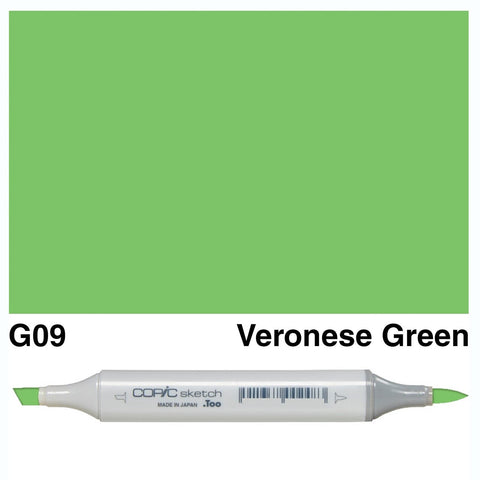 Copic Sketch Marker Pen G09 -  Veronese Green