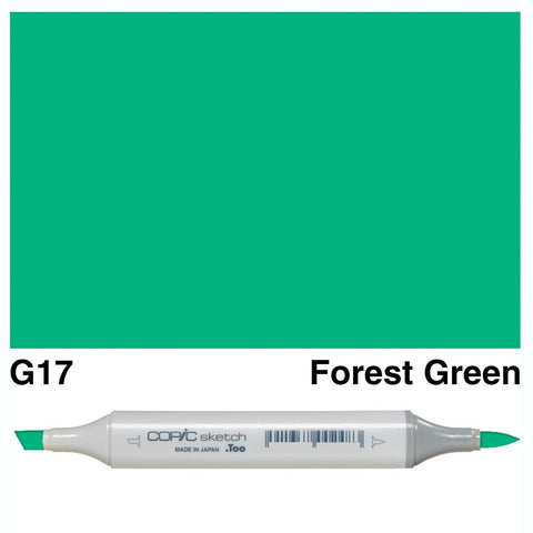 Copic Sketch Marker Pen G17 - Forest Green