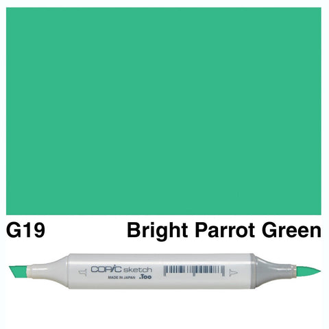Copic Sketch Marker Pen G19 - Bright Parrot Green