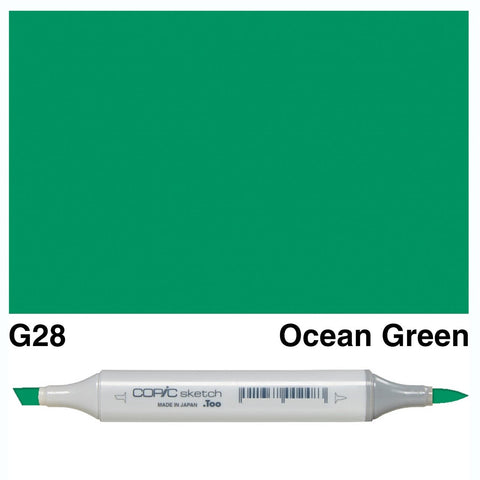 Copic Sketch Marker Pen G28 - Ocean Green