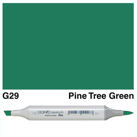 Copic Sketch Marker Pen G29 - Pine Tree Green