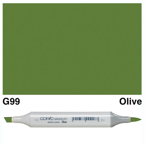 Copic Sketch Marker Pen G99 - Olive