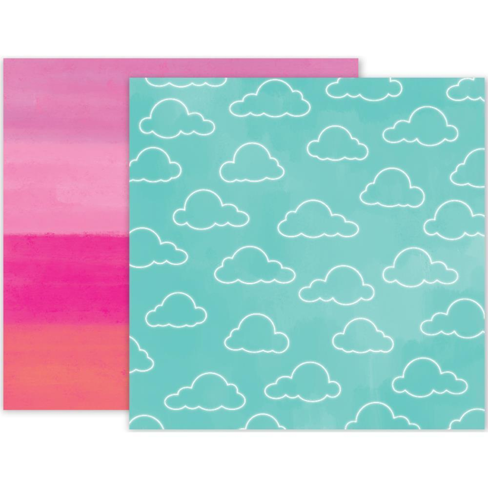 Pink Paislee Summer Lights Double-Sided Cardstock 12 inch X12 inch - #05