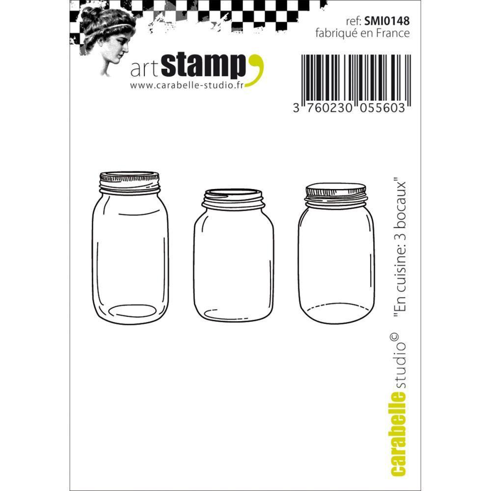 Carabelle Studio Cling Stamp 2.75 X3.75 inch - 3 Jars