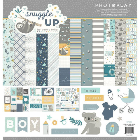 PhotoPlay Collection Pack 12 inch X12 inch Snuggle Up Boy