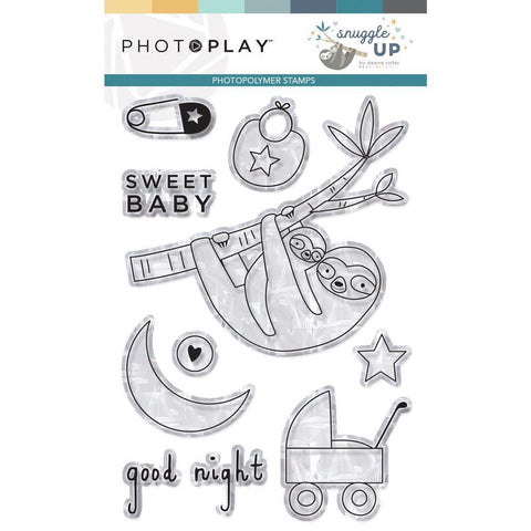 PhotoPlay Photopolymer Stamp Snuggle Up Boy
