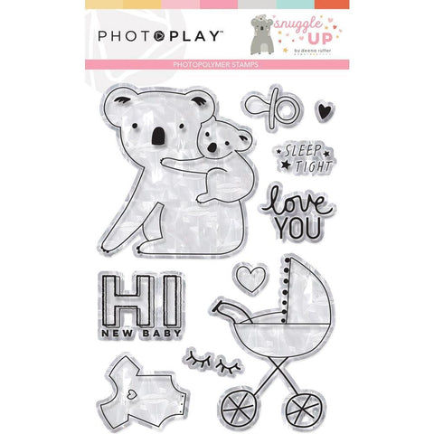 PhotoPlay Photopolymer Stamp Snuggle Up Girl