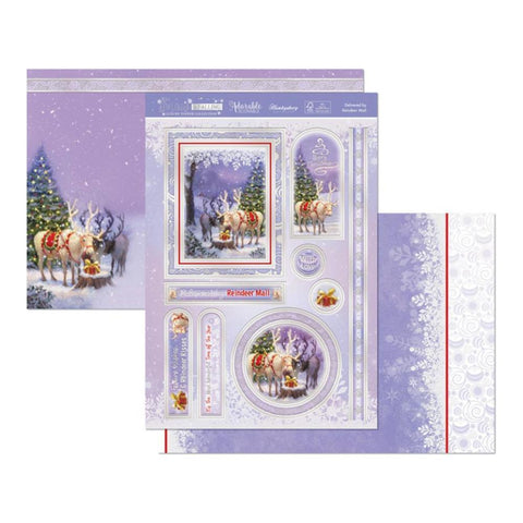 Hunkydory Snow Is Falling Luxury A4 Topper Set - Delivered By Reindeer Mail