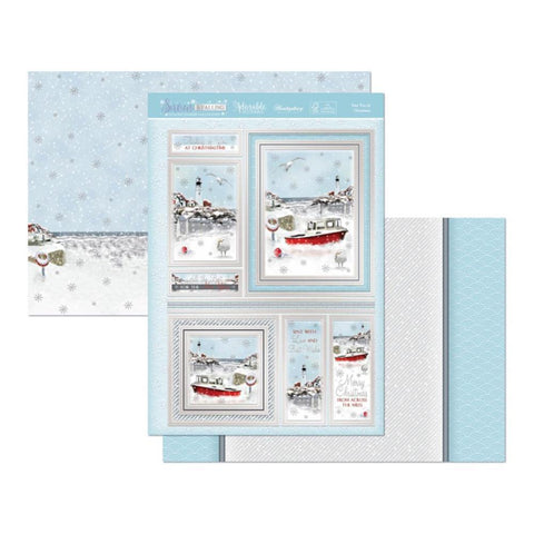 Hunkydory Snow Is Falling Luxury A4 Topper Set - Sea You At Christmas