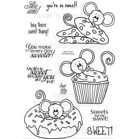 Sweet n Sassy Clear Stamps 4 inch X6 inch So Sweet Cocoa