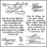 Sweet n Sassy Clear Stamps 4 inch X4 inch Amazing Grace