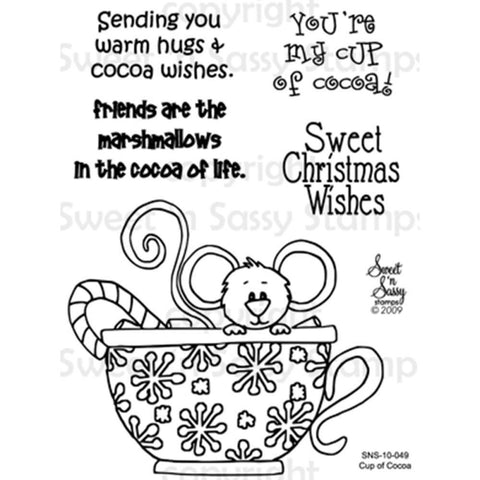 Sweet n Sassy Clear Stamps 3 inch X4 inch Cup Of Cocoa