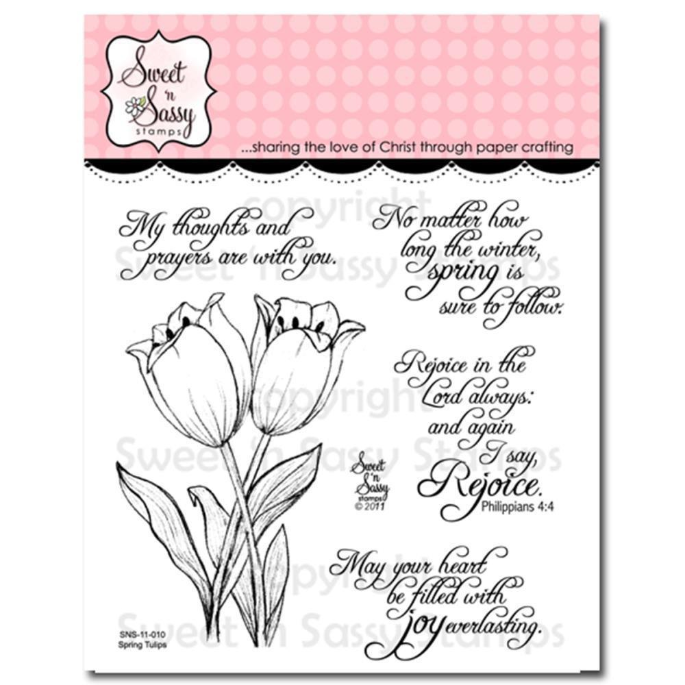 Sweet n Sassy Clear Stamps 4 inch X4 inch Spring Tulips