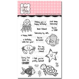 Sweet n Sassy Clear Stamps 4 inch X6 inch Happy Ocean Friends