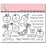 Sweet n Sassy Clear Stamps 4 inch X6 inch Punny Fruits & Veggies