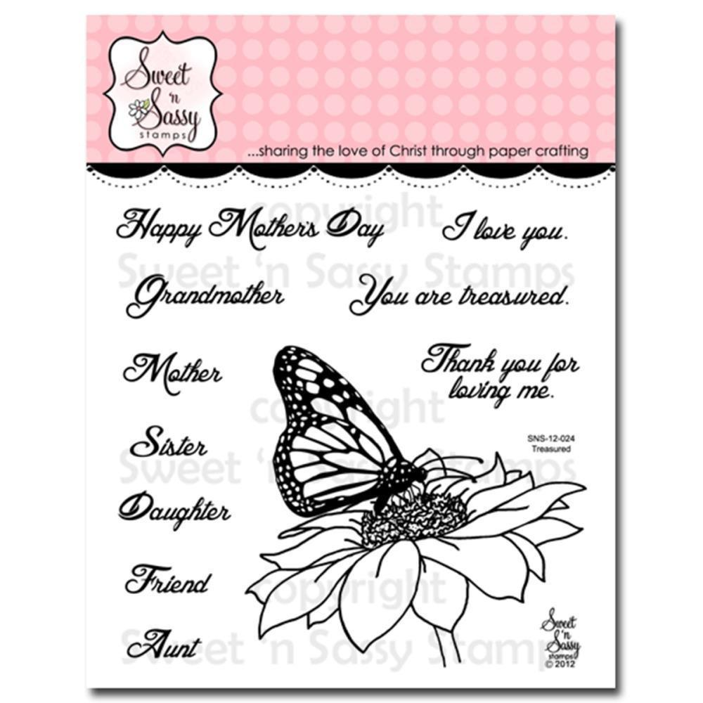 Sweet n Sassy Clear Stamps 4 inch X4 inch Treasured