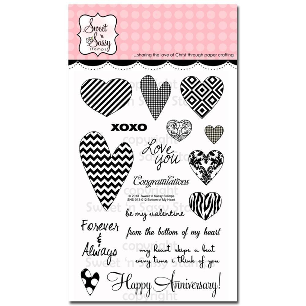 Sweet n Sassy Clear Stamps 4 inch X6 inch Bottom Of My Heart