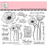Sweet n Sassy Clear Stamps 6 inch X8 inch Precious Poppies
