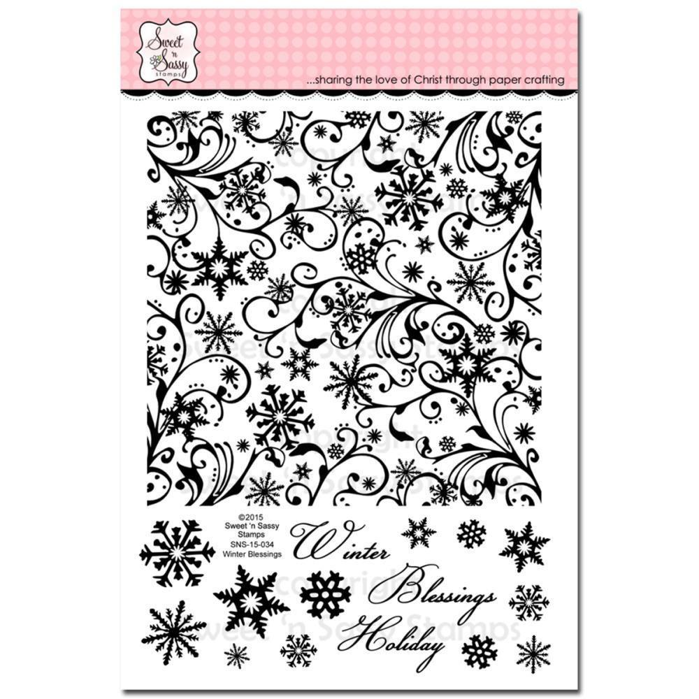 Sweet n Sassy Clear Stamps 6 inch X8 inch Winter Blessings