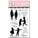 Sweet n Sassy Clear Stamps 4 inch X6 inch Happy Together