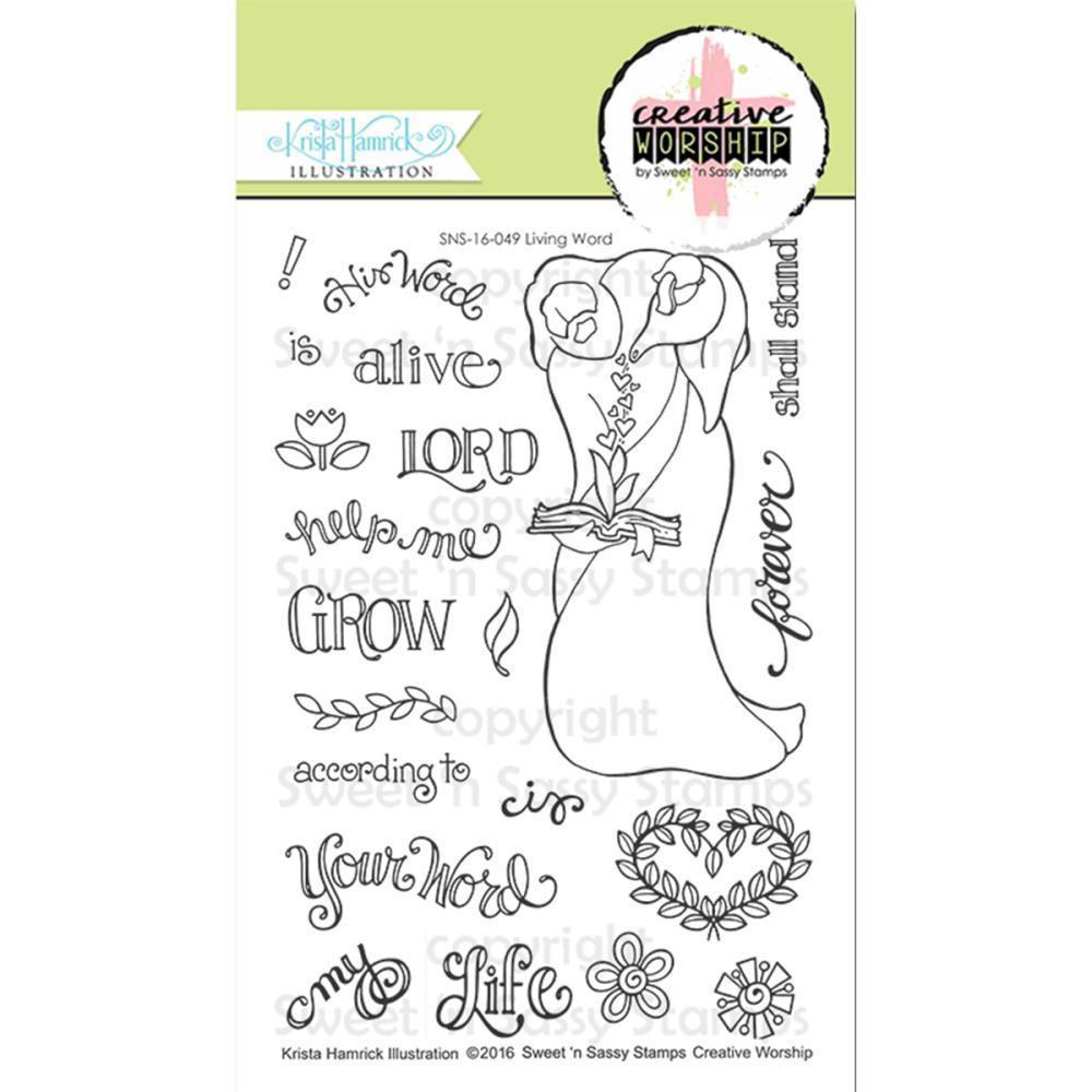 Sweet n Sassy Creative Worship Clear Stamps 4 inch X6 inch Living Word
