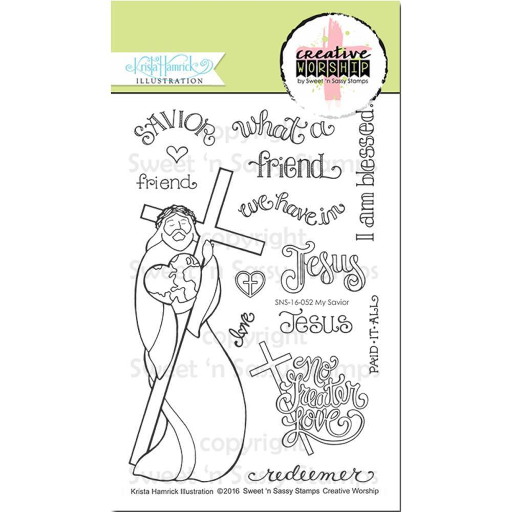 Sweet n Sassy Creative Worship Clear Stamps 4 inch X6 inch My Savior