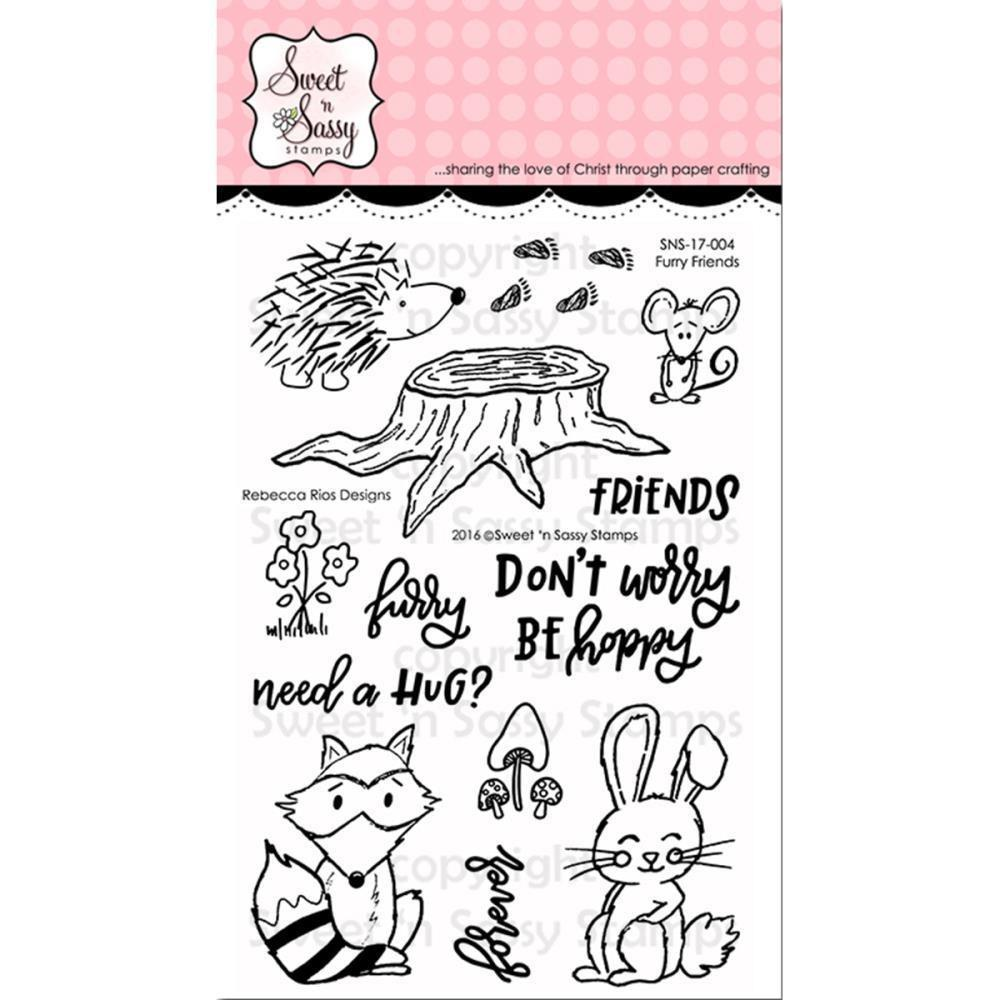 Sweet n Sassy Clear Stamps 4 inch X6 inch Furry Friends