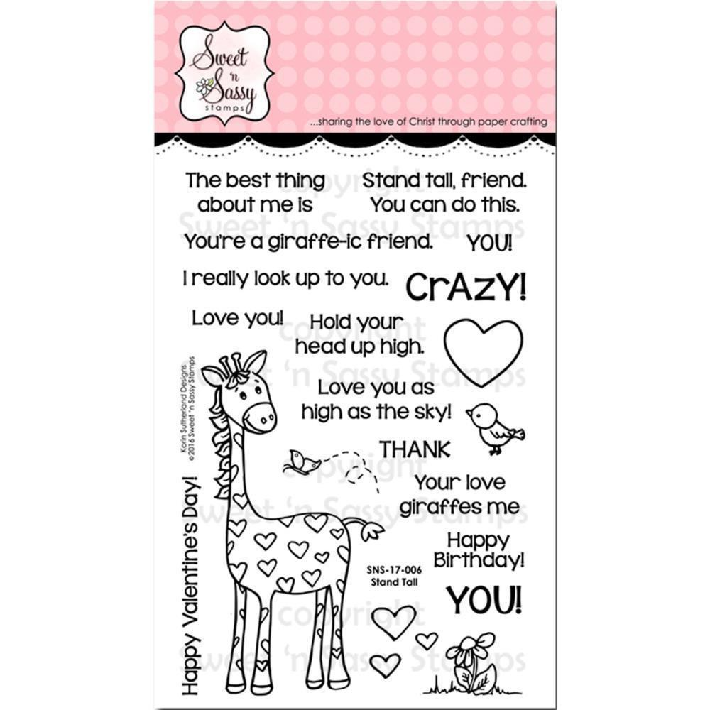Sweet n Sassy Clear Stamps 4 inch X6 inch Stand Tall