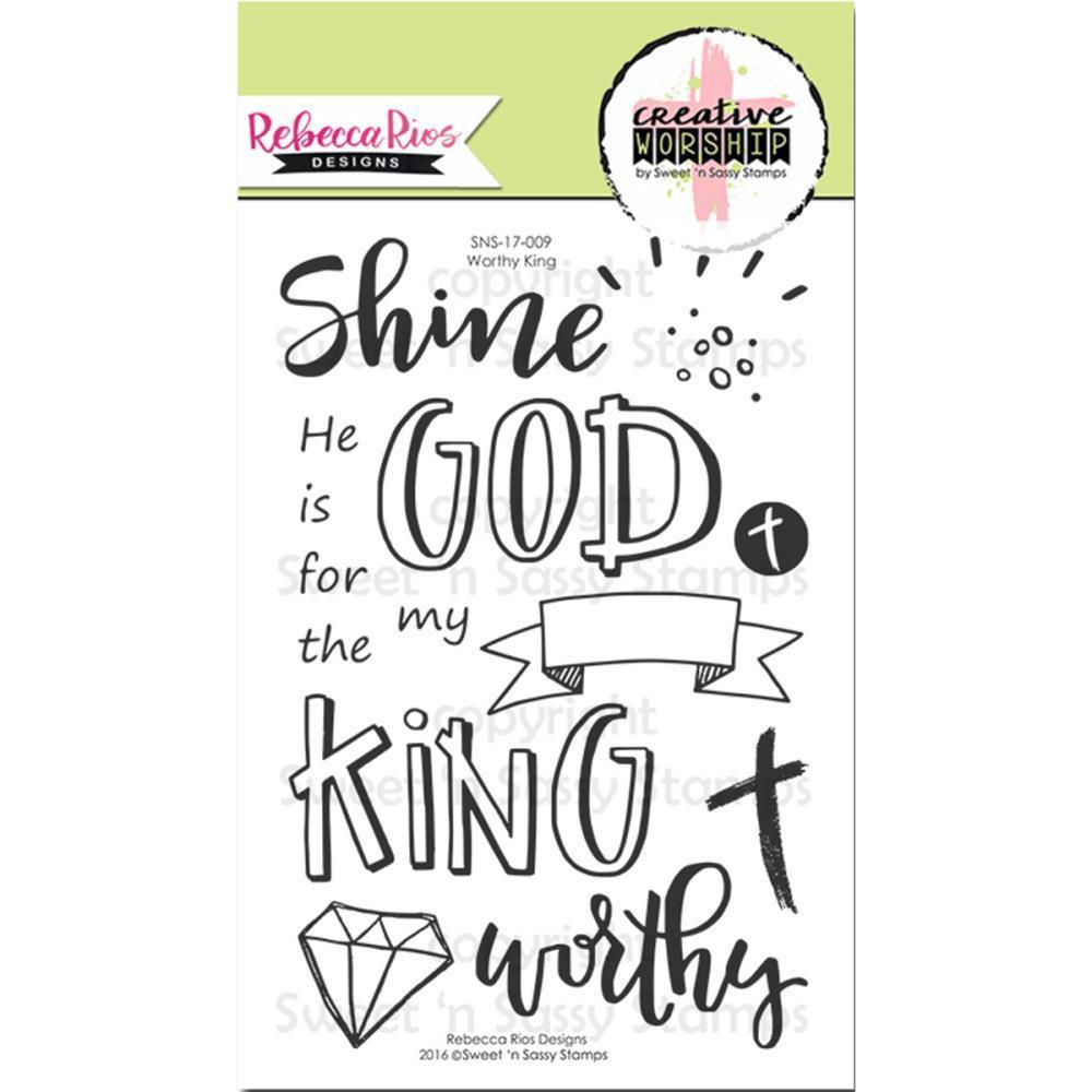 Sweet n Sassy Creative Worship Clear Stamps 4 inch X6 inch Worthy King
